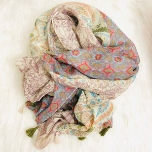 New! Floral Tassels Beach Scarves Wrap Cover Up